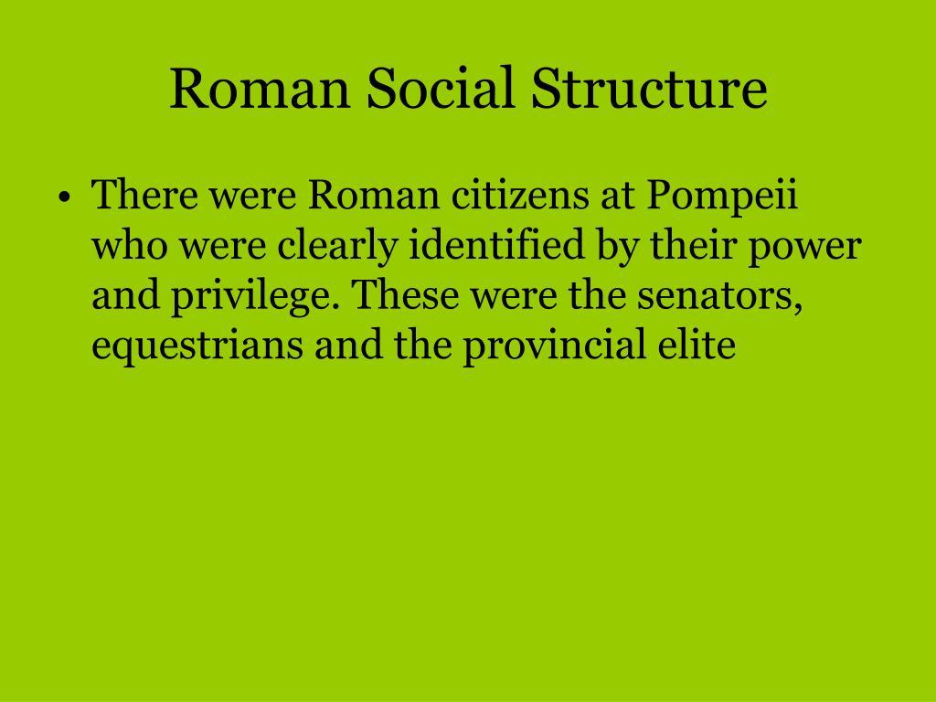 Roman Social Structure