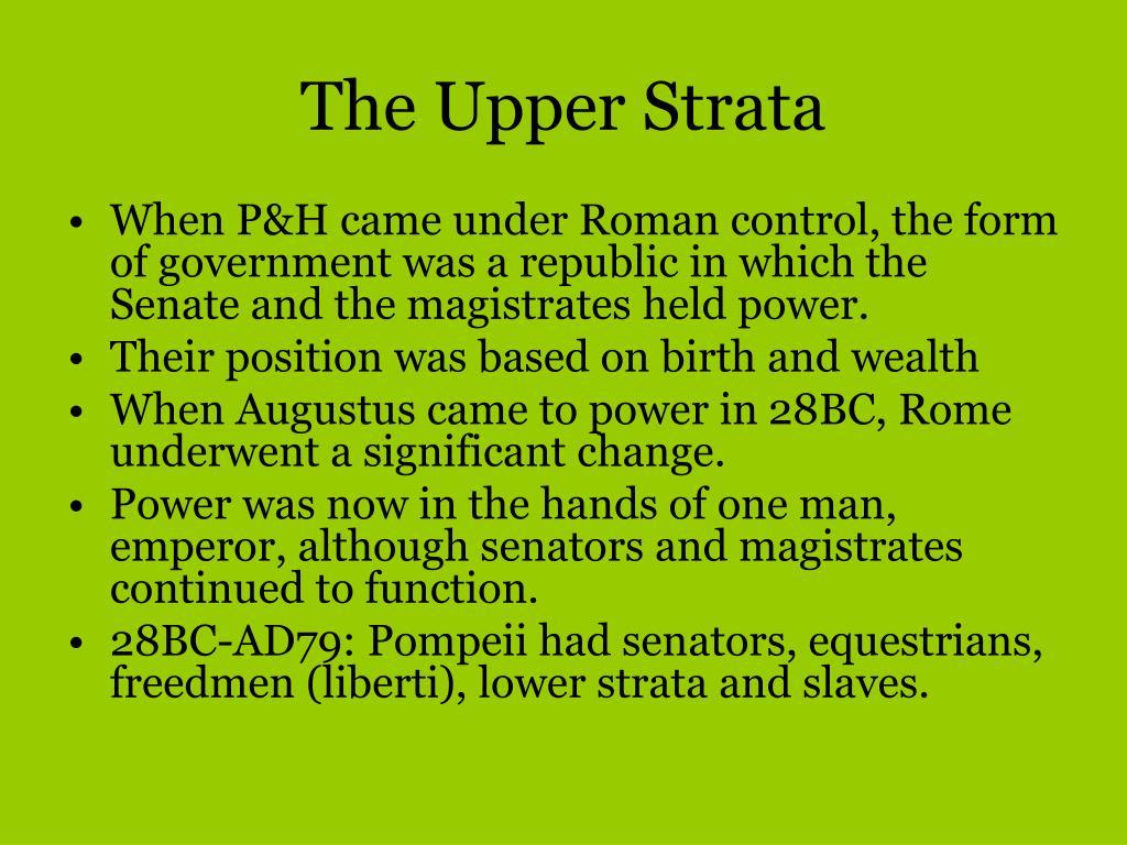 The Upper Strata