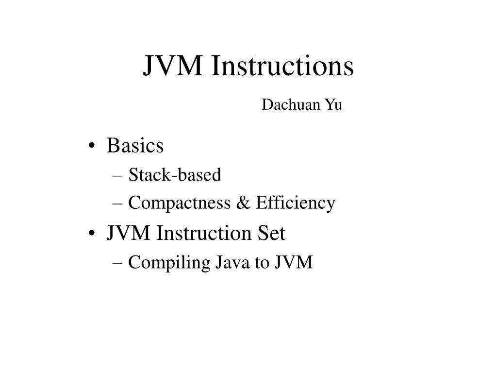 jvm instructions l.