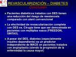 revascularizaci n diabetes conclusi n