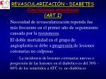 revascularizaci n diabetes conclusiones ense anza art i
