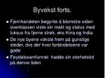 byvekst forts