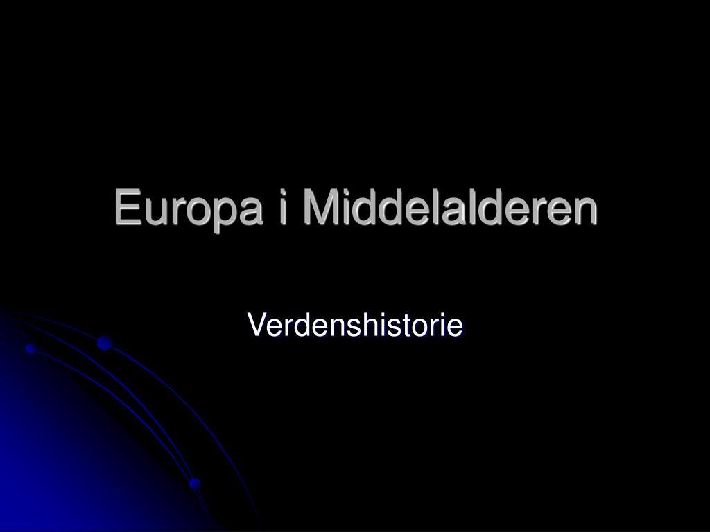 europa i middelalderen l.