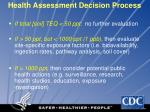 health assessment decision process