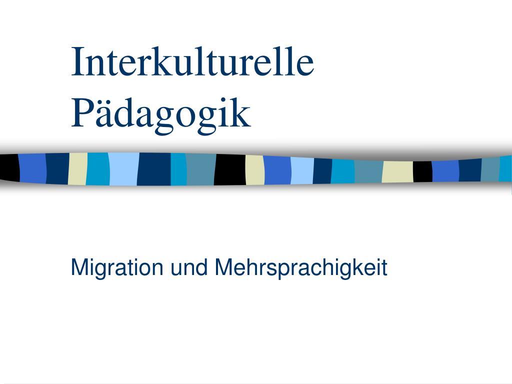 interkulturelle p dagogik l.