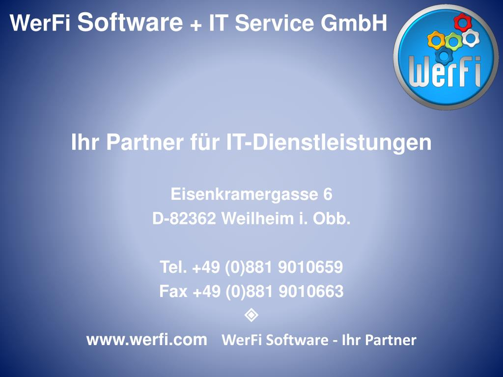 werfi software ihr partner l.