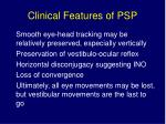 clinical features of psp5
