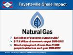 fayetteville shale impact