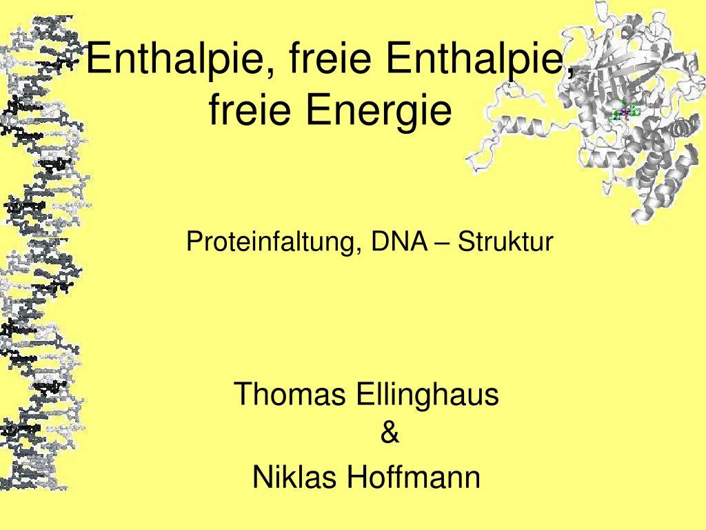 enthalpie freie enthalpie freie energie l.