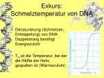 exkurs schmelztemperatur von dna