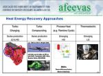heat energy recovery approaches29