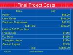 final project costs