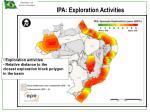 ipa exploration activities