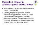 example 3 hauser andrew s 2006 lrppc model
