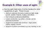 example 6 other uses of oglm