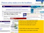 patient safety makes it to the headlines