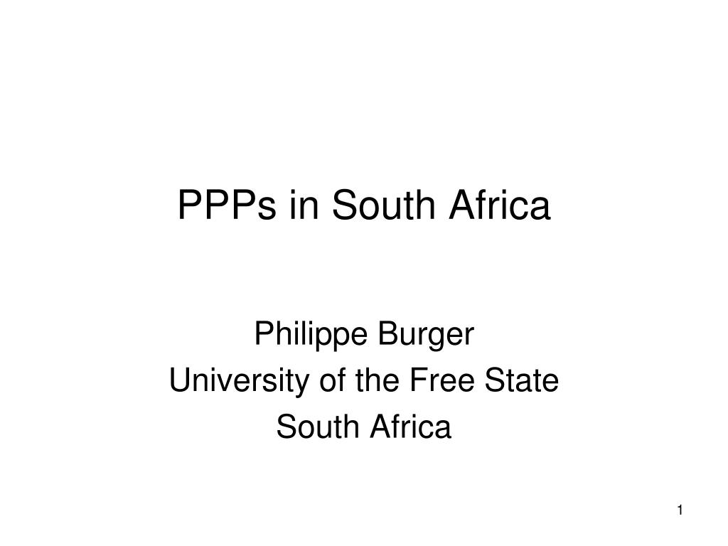 ppps in south africa l.