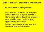 zpd zone of proximal development