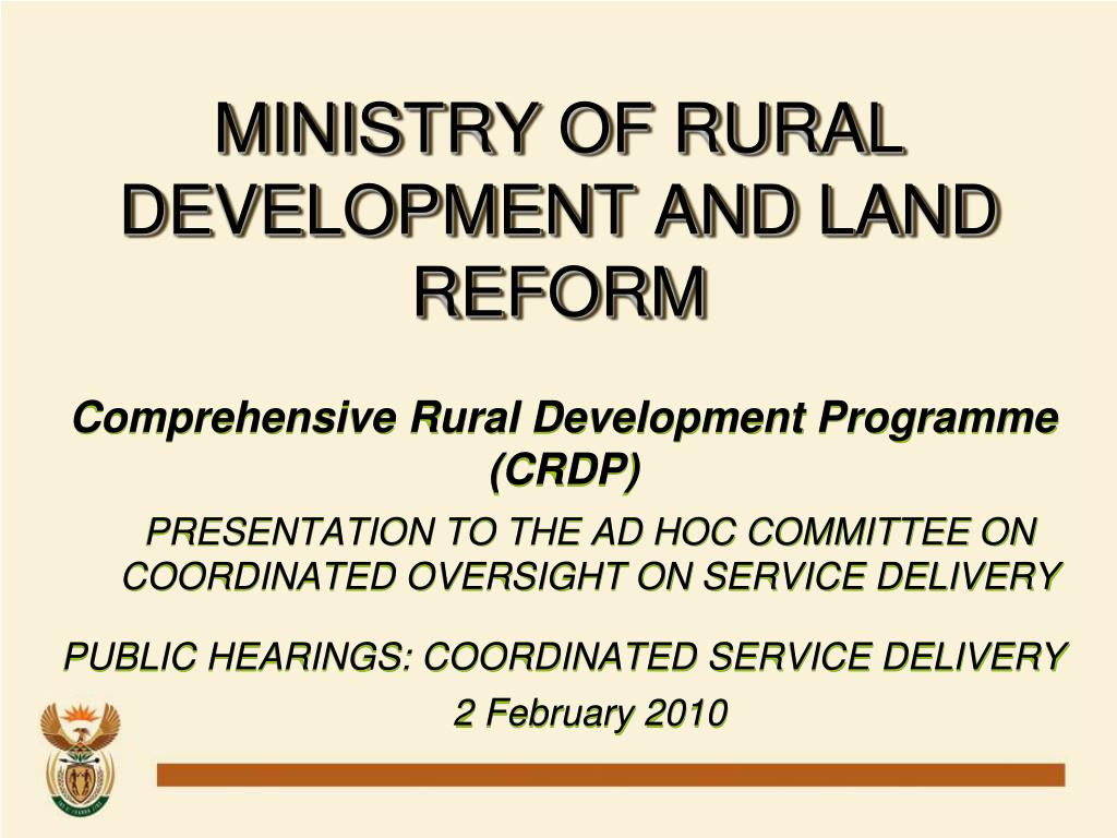 ministry of rural development and land reform l.