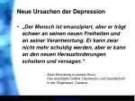 neue ursachen der depression