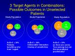 3 target agents in combinations possible outcomes in unselected patients
