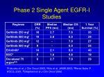 phase 2 single agent egfr i studies