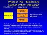 phase 2 trial molecularly defined patient population
