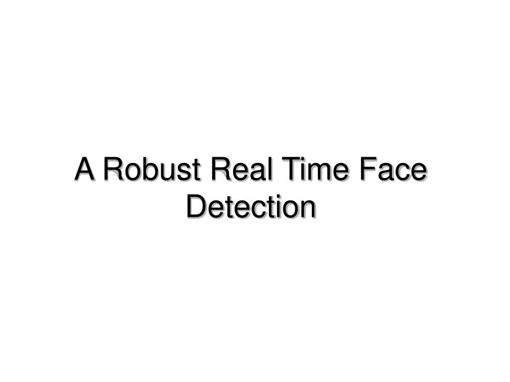 a robust real time face detection l.