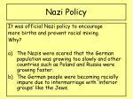 nazi policy