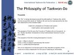 the philosophy of taekwon do36