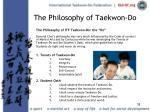the philosophy of taekwon do38
