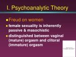 i psychoanalytic theory10