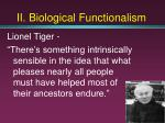 ii biological functionalism19