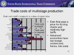 trade costs of multistage production