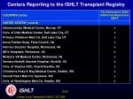 centers reporting to the ishlt transplant registry31