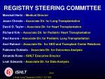 registry steering committee