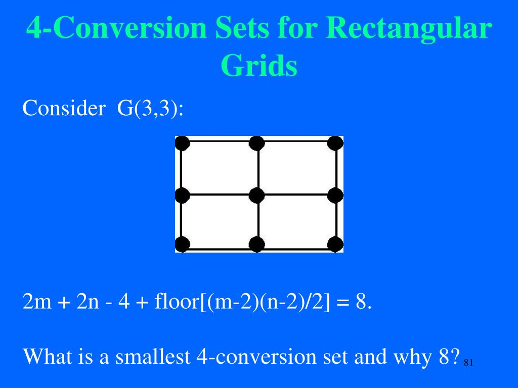 4-Conversion Sets for Rectangular Grids