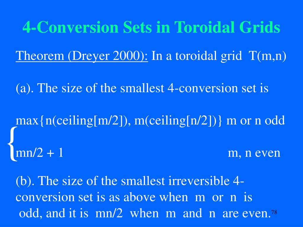 4-Conversion Sets in Toroidal Grids