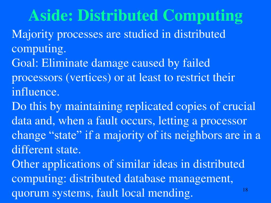 Aside: Distributed Computing