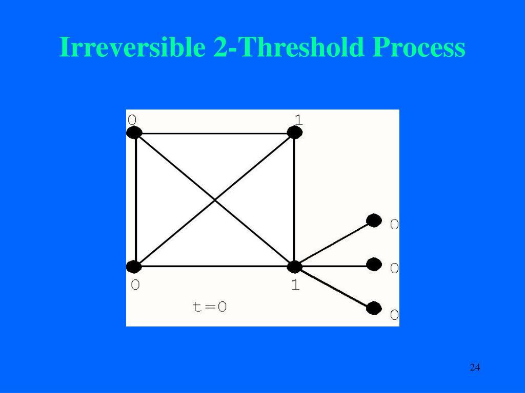 Irreversible 2-Threshold Process