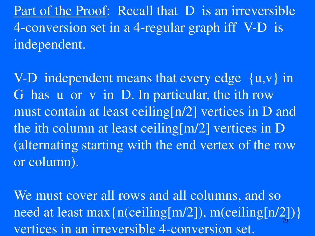 Part of the Proof