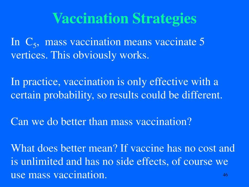 Vaccination Strategies