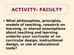 activity faculty