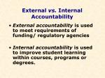 external vs internal accountability