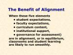 the benefit of alignment