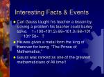 interesting facts events