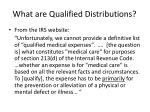 what are qualified distributions