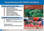 disseminating iso 22000 standards