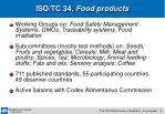 iso tc 34 food products