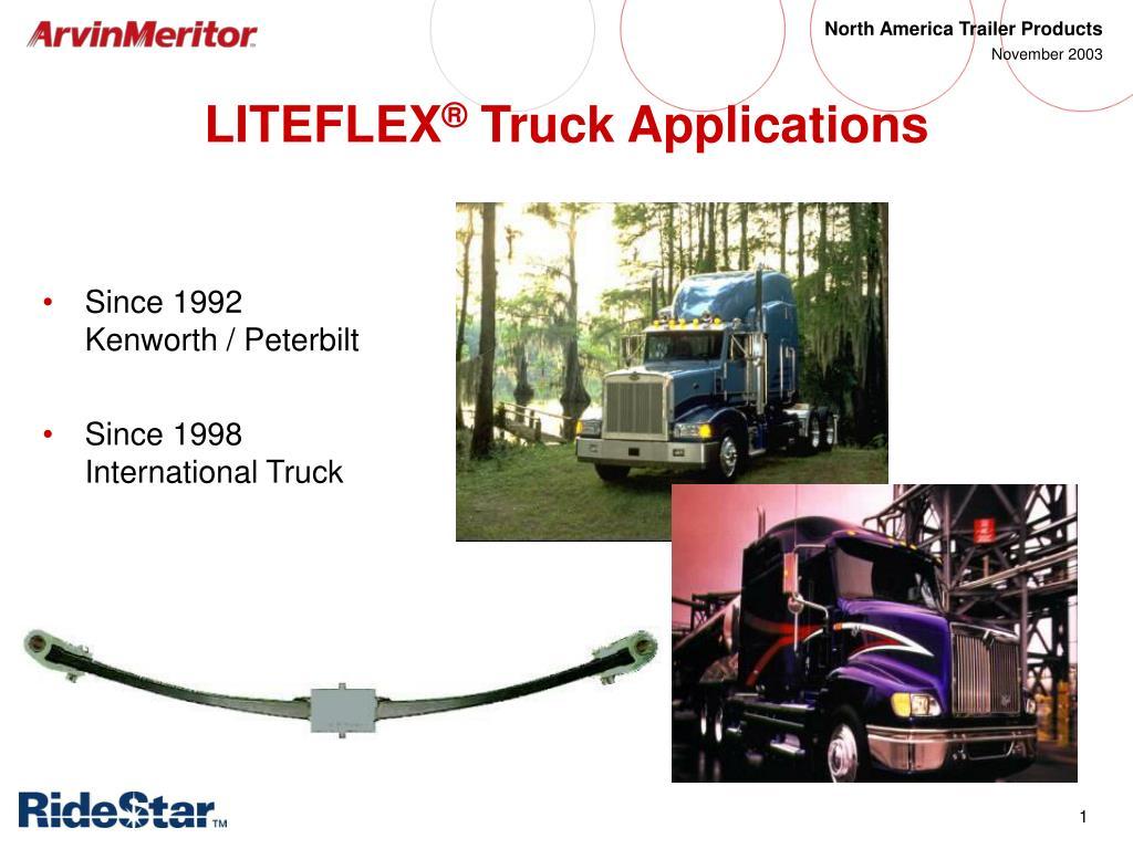 liteflex truck applications l.